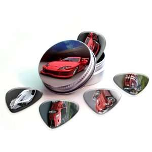 Cars Premium Guitar Picks x 5 With Tin Musical Instruments