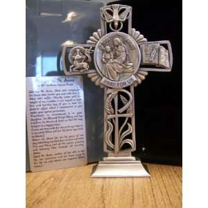 Anne   5 Fine Pewter Standing Cross (JC 6623 E) Kitchen & Dining