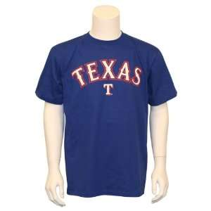 Texas Rangers Big T MLB T Shirt (Blue) Sports