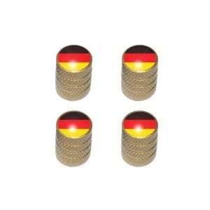 German Flag   Tire Rim Valve Stem Caps   Gold Automotive