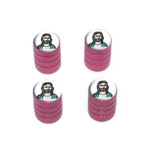 Jesus   Religious Christian   Tire Rim Wheel Valve Stem Caps   Pink
