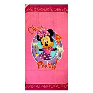 Disney Minnie Mouse Towel   Oh So Pretty (Bath / Beach Towel) : Toys
