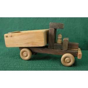 Wooden Toy Dump Truck Made in America by D and Me: Toys & Games