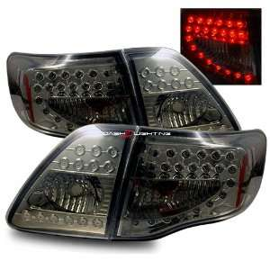 09 10 Toyota Corolla LED Tail Lights   Smoke Automotive