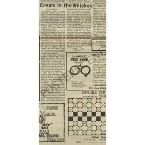 Cream Whisky Original Concert Review 1967 Eric Clapton