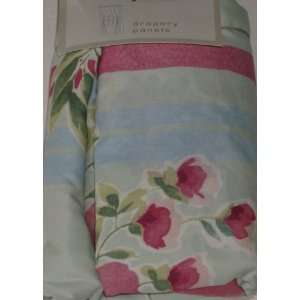 Floral Drapery Window Panels Blue Flower Curtains 84