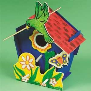 Wooden Birdhouse Craft Kit (Makes 12): Toys & Games