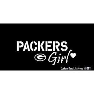 Green Bay Packers Girl Car Window Decal Sticker