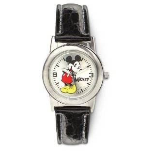 Disney Mens MCK623 Mickey Mouse Moving Hands Brown Strap