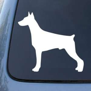 Dog   Vinyl Decal Sticker #1508  Vinyl Color White Automotive
