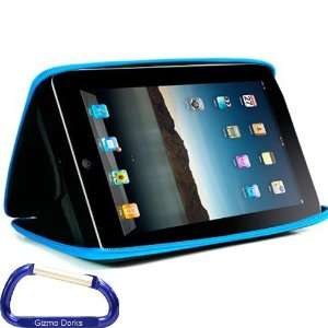 Premium Apple iPad EVA Hard Shell Case (Blue) with Free Carabiner Key