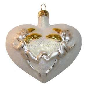 Glass Ornament Angel of Love in White:  Home & Kitchen