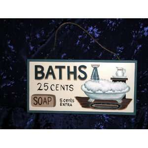 INN & BATH HOUSE HOTEL SIGN NOVELTY WALL DECOR ART PLAQUE: Home