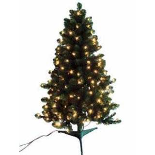 Frosted Hawthorne Fir Potted Artificial Christmas Tree   Clear Lights