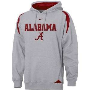 Nike Alabama Crimson Tide Ash Pass Rush Hoody Sweatshirt