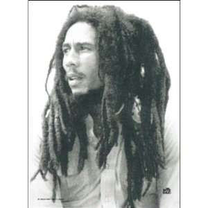 BOB MARLEY BLACK AND WHITE IMAGE FABRIC POSTER