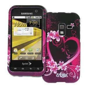 Hearts with Flowers Design Hard Case Cover for Sprint Samsung Conquer