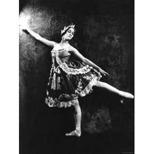 Russian Ballerina Olga Spessiva Striking Pose Stretched