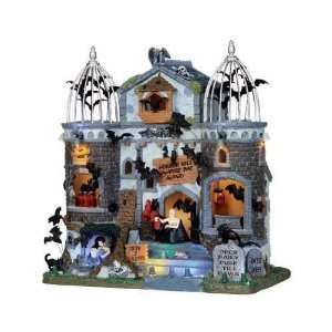 Spooky Town Vampire Bat Aviary Lighted Musical Building