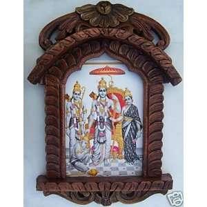 Ram, Sita, Laxman & Januman, Painting in Traditional Jarokha, Art