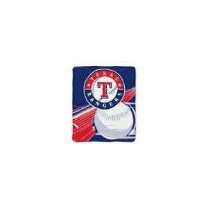 Texas Rangers Royal Plush Raschel MLB Blanket (Big Stick Series) by
