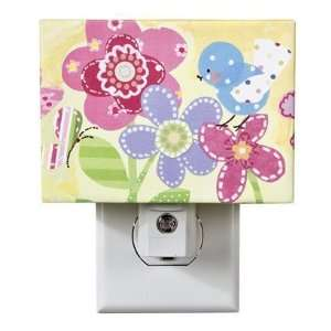Oopsy Daisy too Flowers Canvas Night Light