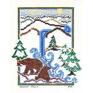 Grizzly Falls Counted Cross Stitch Pattern