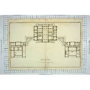 GROUND FLOOR PLAN COFFEE ROOM HUNTING HOUGHTON HALL