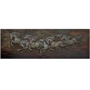 Yosemite Home Decor FCC5023D 1 Horse Soldiers Painted Wall Art
