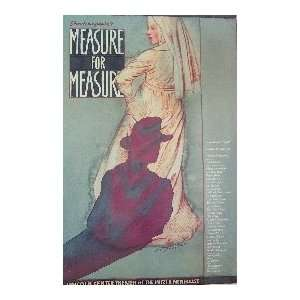 MEASURE FOR MEASURE (ORIGINAL BROADWAY THEATRE WINDOW CARD