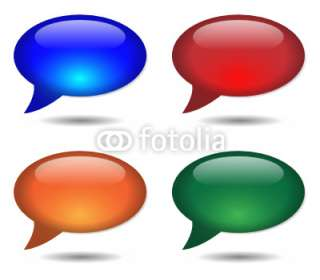 BUBBLE ICONS (online chat web internet forum) © treenabeena #23437152