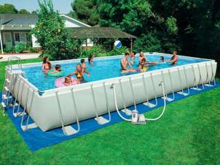 Intex Ultra Frame Above Ground Pools   Rectangle   Ships for $10