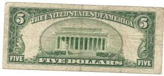 Series 1953 A $5 Five Dollar RED SEAL USN   STAR NOTE