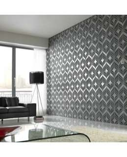 17622 Superfresco Easy Vivid Graphite,Black Geometric Wallpaper
