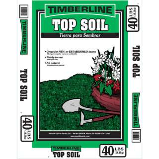 Home Lawn Care & Landscaping Timberline 40 Lb. Premium Top Soil
