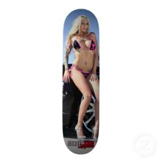 Street King Magazine model Destiny Daniels Custom Skateboard  Zazzle