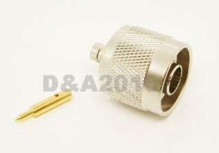 male straight crimp for RG402 0.141 connector