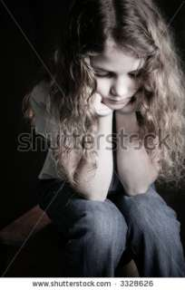 Sad Girl With Hands On Chin Stock Photo 3328626  Shutterstock