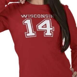 Wisconsin 14 tee shirt from Zazzle