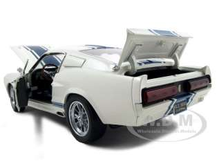 1967 SHELBY MUSTANG GT500 SUPER SNAKE WHITE 1:18 BY SHELBY