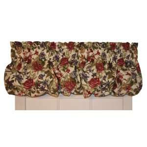 Rose Floral Balloon Valance Curtain 68 Inch by 15 Inch Home & Kitchen