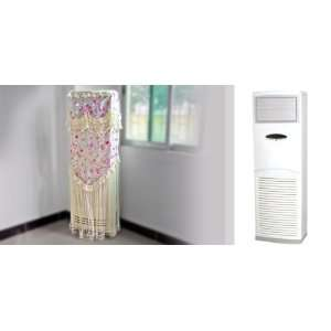 Flower Pattern Indoor Vertical Air Conditioner Cover