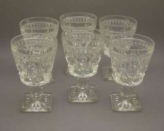 Vintage Colony Park Lane Pressed Glass Wine Goblets