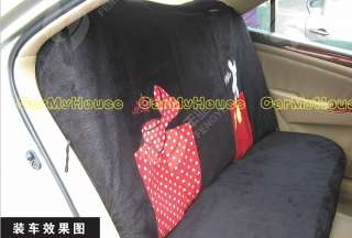 New Mickey & Minnie Mouse Car Seat Covers Black