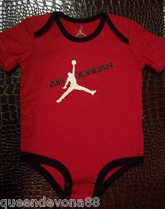 Jumpman Flight Infant Baby Newborn Onesie Romper Bodysuit Red Black