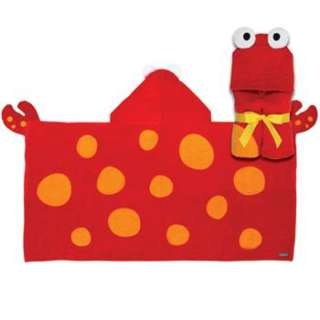 Stephen Joseph Childrens Kids Beach / Bath Hooded Towel Crab