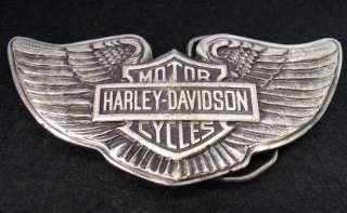 Vintage Harley Davidson Motorcycle Wings Belt Buckle
