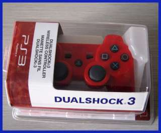 SIXAXIS Red Dualshock Wireless Bluetooth Controller for PS3
