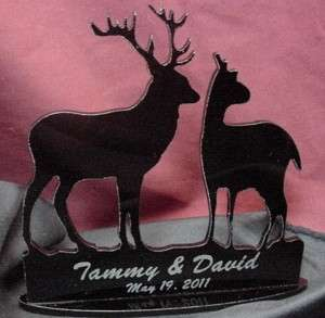 Deer Hunter hunting Wedding cake topper BUCK engraved