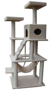 Large 72 Cat Tower Tree w Condo Scratcher Furniture